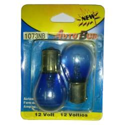 Bombillo 12V 1 contacto Azul Natural (par)
