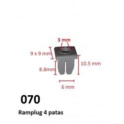 5 Ramplug 4 Patas pequeño